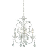 Signature 4 Light 13 inch Satin White Mini Chandelier Ceiling Light