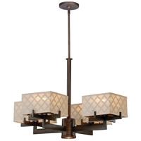 Vaxcel H0040 Arabesque 4 Light 29 inch Venetian Bronze Chandelier Ceiling Light