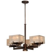 Vaxcel H0042 Twirl 4 Light 29 inch Venetian Bronze Chandelier Ceiling Light