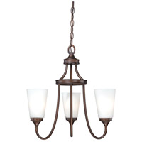 Lorimer 3 Light 19 inch Venetian Bronze Mini Chandelier Ceiling Light