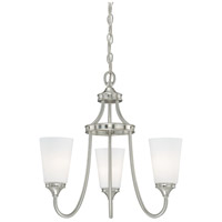 Lorimer 3 Light 19 inch Satin Nickel Mini Chandelier Ceiling Light