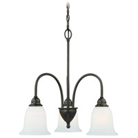 Concord 3 Light 21 inch Oil Rubbed Bronze Mini Chandelier Ceiling Light