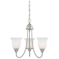 Concord 3 Light 21 inch Satin Nickel Mini Chandelier Ceiling Light