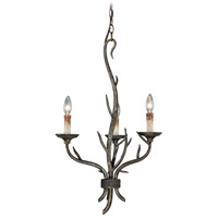 Vaxcel H0071 Monterey 3 Light 18 inch Autumn Patina Mini Chandelier Ceiling Light