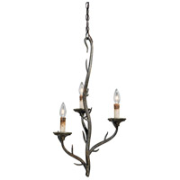 Monterey 3 Light 16 inch Autumn Patina Mini Chandelier Ceiling Light