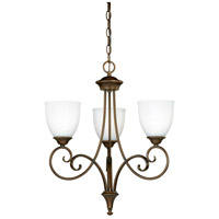 Claret 3 Light 21 inch Venetian Bronze Mini Chandelier Ceiling Light