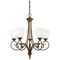 Vaxcel H0082 Claret 5 Light 25 inch Venetian Bronze Chandelier Ceiling Light