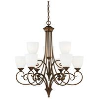 Vaxcel H0083 Claret 9 Light 31 inch Venetian Bronze Chandelier Ceiling Light
