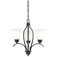 Darby 3 Light 18 inch New Bronze Mini Chandelier Ceiling Light