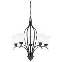 Vaxcel H0085 Darby 5 Light 26 inch New Bronze Chandelier Ceiling Light