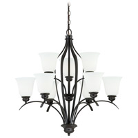 Vaxcel H0086 Darby 9 Light 29 inch New Bronze Chandelier Ceiling Light