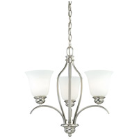 Darby 3 Light 18 inch Satin Nickel Mini Chandelier Ceiling Light
