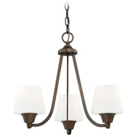 Calais 3 Light 18 inch Venetian Bronze Mini Chandelier Ceiling Light