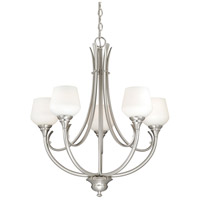 Vaxcel H0125 Grafton 5 Light 25 inch Satin Nickel Chandelier Ceiling Light