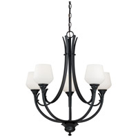 Vaxcel H0126 Grafton 5 Light 25 inch Oil Rubbed Bronze Chandelier Ceiling Light