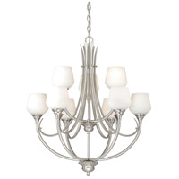 Vaxcel H0127 Grafton 9 Light 29 inch Satin Nickel Chandelier Ceiling Light