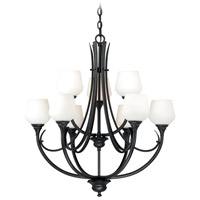 Vaxcel H0128 Grafton 9 Light 29 inch Oil Rubbed Bronze Chandelier Ceiling Light