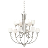 Vaxcel H0129 Grafton 12 Light 36 inch Satin Nickel Chandelier Ceiling Light