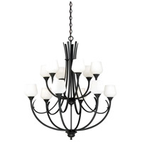 Vaxcel H0130 Grafton 12 Light 36 inch Oil Rubbed Bronze Chandelier Ceiling Light