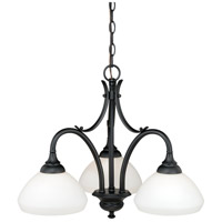 Vaxcel H0132 Grafton 3 Light 23 inch Oil Rubbed Bronze Chandelier Ceiling Light