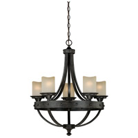 Vaxcel H0135 Halifax 5 Light 25 inch Black Walnut Chandelier Ceiling Light