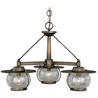 Vaxcel H0137 Jamestown 3 Light 24 inch Parisian Bronze Chandelier Ceiling Light