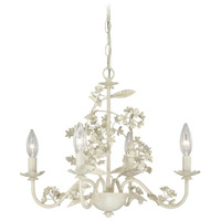 Signature 4 Light 19 inch Antique White Mini Chandelier Ceiling Light