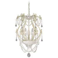 Signature 3 Light 10 inch Antique White Mini Chandelier Ceiling Light