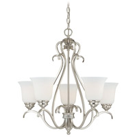 Vaxcel H0153 Hartford 5 Light 25 inch Satin Nickel Chandelier Ceiling Light