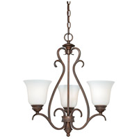 Vaxcel H0156 Hartford 3 Light 20 inch Weathered Patina Mini Chandelier Ceiling Light