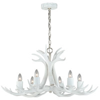 Vaxcel H0159 Vail 6 Light 32 inch White Polished Nickel Chandelier Ceiling Light