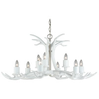 Vaxcel H0162 Vail 9 Light 38 inch White and Polished Nickel Chandelier Ceiling Light photo thumbnail