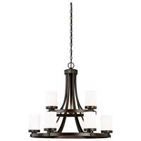 Vaxcel H0168 Sorin 9 Light 30 inch Architectural Bronze Chandelier Ceiling Light