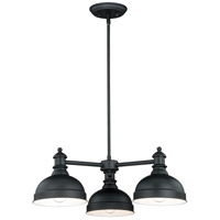 Vaxcel H0169 Keenan 3 Light 25 inch Oil Rubbed Bronze Chandelier Ceiling Light