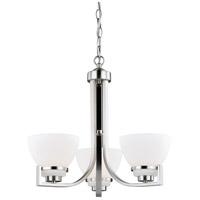 Vaxcel H0174 Metropolis 3 Light 21 inch Satin Nickel Chandelier Ceiling Light