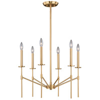 Vaxcel H0178 Kedzie 6 Light 24 inch Natural Brass Chandelier Ceiling Light