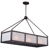 Vaxcel H0183 Lumos 9 Light 39 inch Sterling Bronze Linear Chandelier Ceiling Light