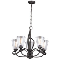 Vaxcel H0185 Cinta 5 Light 25 inch Oil Rubbed Bronze Chandelier Ceiling Light