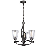 Cinta 3 Light 20 inch Oil Rubbed Bronze Mini Chandelier Ceiling Light