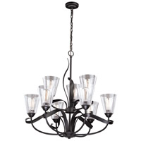 Vaxcel H0187 Cinta 9 Light 32 inch Oil Rubbed Bronze Chandelier Ceiling Light