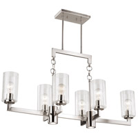 Addison LED 38 inch Satin Nickel Linear Chandelier Ceiling Light