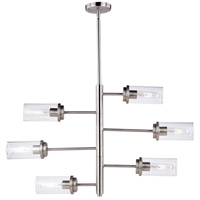 Vaxcel H0193 Kimball 6 Light 32 inch Satin Nickel Chandelier Ceiling Light