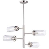 Vaxcel H0194 Kimball 4 Light 26 inch Satin Nickel Chandelier Ceiling Light