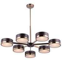 Madison 7 Light 36 inch Architectural Bronze with Natural Brass Chandelier Ceiling Light