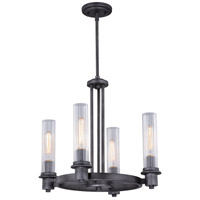 Vaxcel H0228 Astor 4 Light 19 inch Brushed Slate Mini Chandelier Ceiling Light