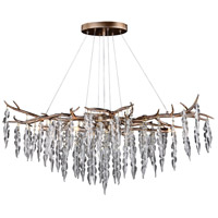 Vaxcel H0231 Rainier 6 Light 40 inch Silver Mist Linear Chandelier Ceiling Light