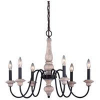 Vaxcel H0236 Georgetown 6 Light 26 inch Vintage Ash and Oil Burnished Bronze Chandelier Ceiling Light