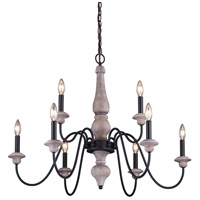 Vaxcel H0237 Georgetown 9 Light 31 inch Vintage Ash and Oil Burnished Bronze Chandelier Ceiling Light