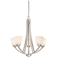 Vaxcel HS-CHU005BN Helsinki 5 Light 27 inch Brushed Nickel Chandelier Ceiling Light