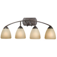Vaxcel HS-VLD004BW Helsinki 4 Light 30 inch Black Walnut Bathroom Light Wall Light